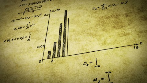 math physics formulas on old paper tilting loop - stock footage