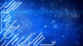 blue circuit board hi-tech loop background - motion graphic