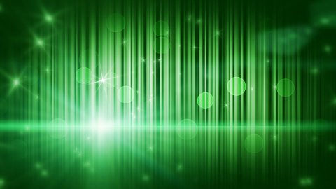 stars lights and vertical stripes green loop background - stock footage