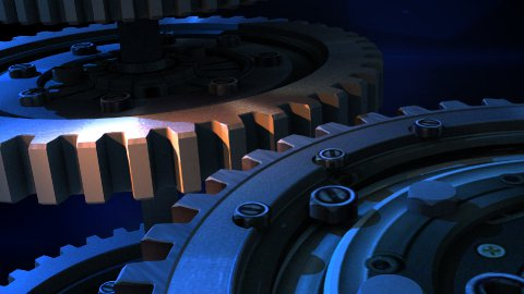 Beautiful 3D mechanism in motion.  - stock footage