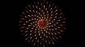 Star points swirling  - motion graphic