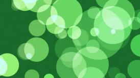 Green defocused circles