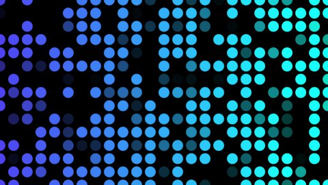 Blue shade dots