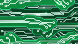 green electronic circuit plates alpha - motion graphic
