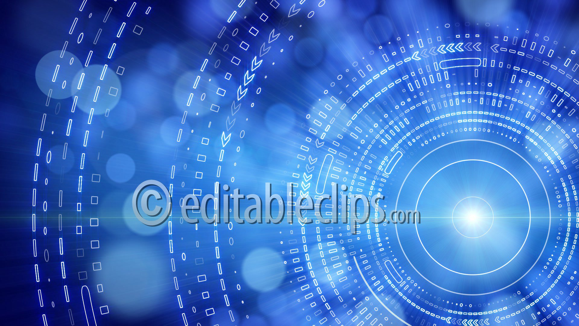 Blue Abstract Background Lights Hd 1080 Editable Clips