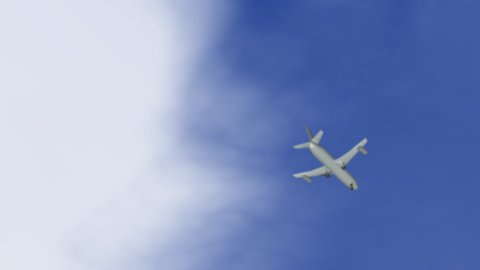 3D plane 01 - stock footage