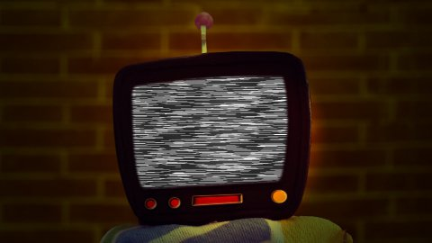 Bad TV - stock footage