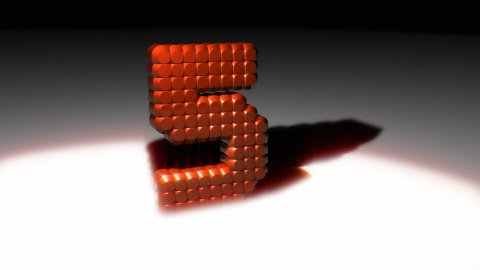 3D Leds countdown - stock footage