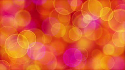 red orange pink yellow circle bokeh lights loop - stock footage
