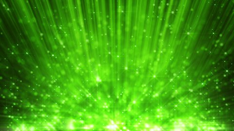 green light beams and rising blinking particles loop - stock footage