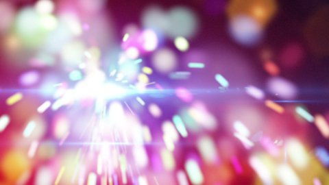 christmas sparkler close-up loop animation - stock footage
