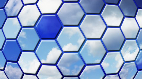 clouds reflected in cells loopable background - stock footage