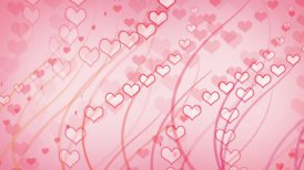 hearts and curves pink background loop - motion graphic
