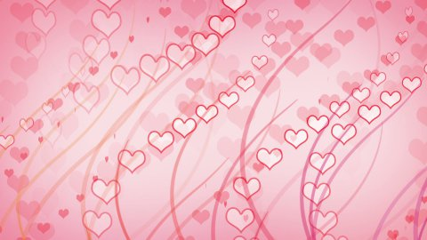 hearts and curves pink background loop - stock footage