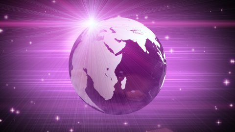 explosive globe magenta background - stock footage