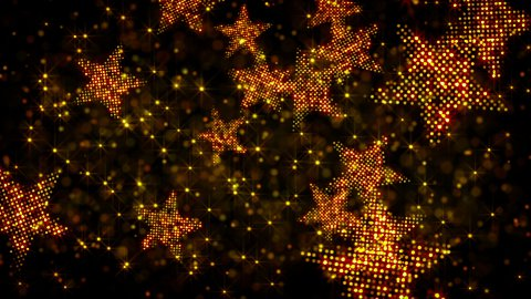glittering stars and lights loop holiday background - stock footage