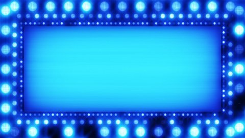 flashing lights blue banner loop - stock footage