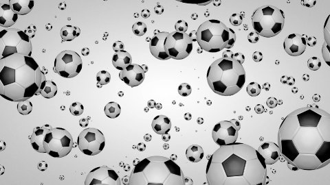 3D football particles 01 - stock footage