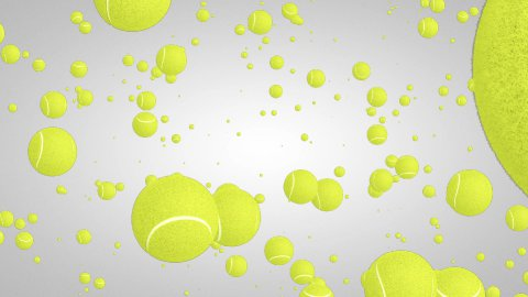 3D Tennis ball particles 01 - stock footage