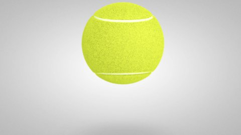 3D Tennis ball bounce 02 - stock footage