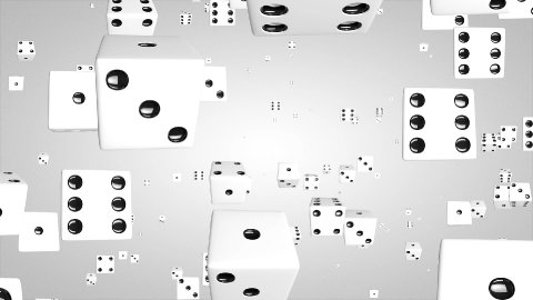 3D Dice particles - stock footage