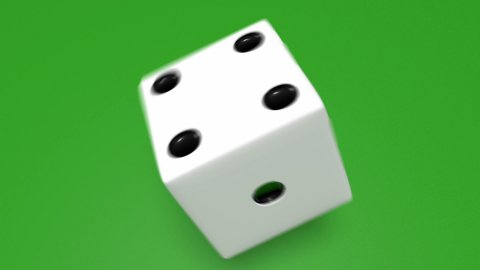 3D Dice roll 01 - stock footage