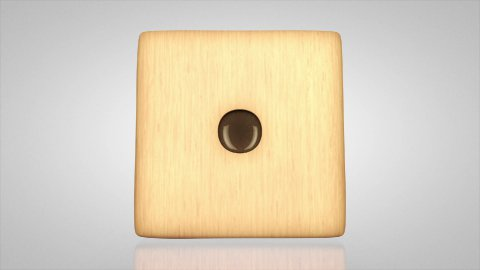 3D wood Dice turn around loop with alpha channel - stock footage