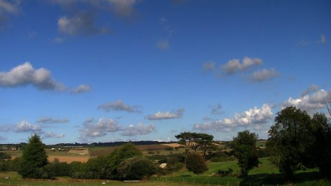 Countryside cloudscape timelapse 01 - stock footage