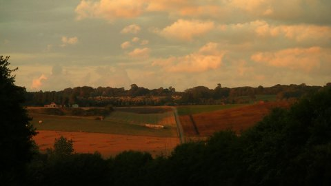 Countryside sunset timelapse 01 - stock footage