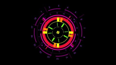 2d icon, sight and indicator - stock footage