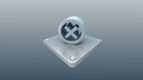 3d metal icon - stock footage
