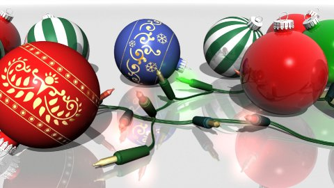 Ornaments and Christmas Lights - stock footage