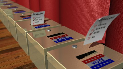 Vote Ballot Boxes - stock footage