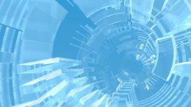 Geometric Glass Tunnel - motion graphic