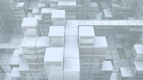 Reflective Cube Fortress - stock footage