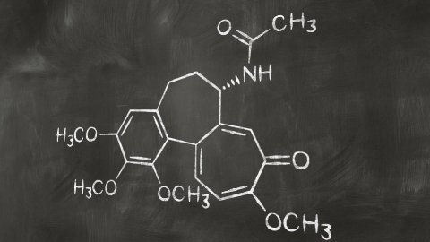 drawing chemical formula on chalkboard - stock footage