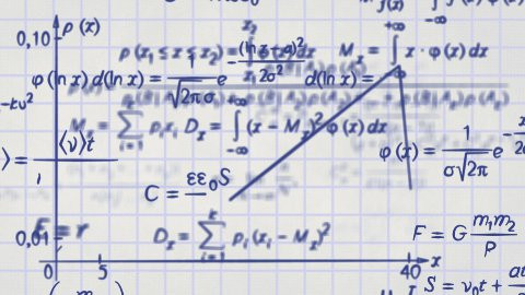 math physics formulas on squared paper loop - stock footage