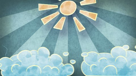 sun and clouds grunge loopable animation - stock footage