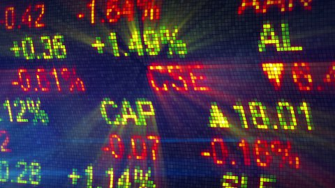 stock exchange data board close-up - stock footage