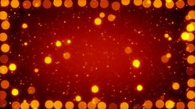 orange christmas lights seamless loop background - motion graphic