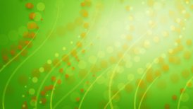 dots and curves green orange background loop - motion graphic