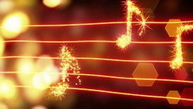 musical notes loopable background - motion graphic