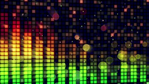 sound level meter equalizer loopable background - stock footage