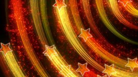 disco stars abstract loopable background yellow orange - motion graphic
