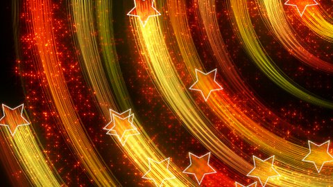 disco stars abstract loopable background yellow orange - stock footage