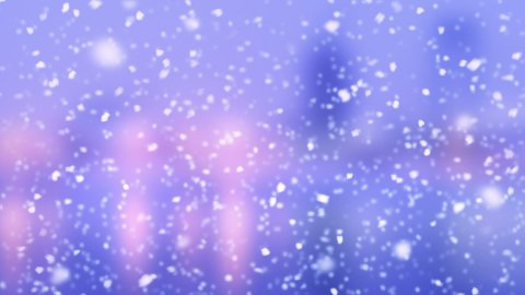 turbulent snowfall slowmotion loop - stock footage