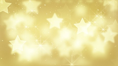 gold bokeh stars and particles loop - stock footage