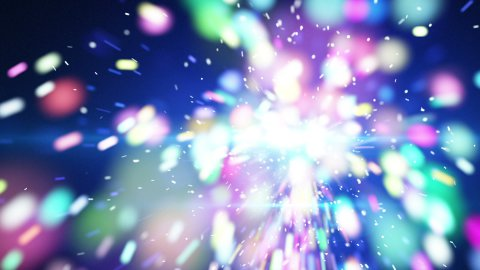 blue christmas sparkler close-up loop animation - stock footage