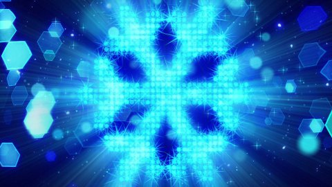 snowflake shape from blue particles loop - stock footage