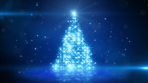 blue light christmas tree last 10s loop - stock footage